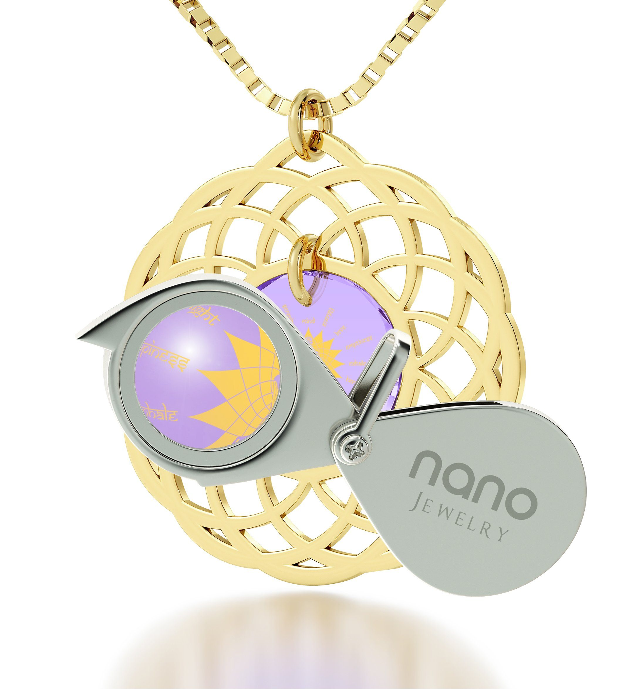 """Body and Mind"": Birthday Delivery Ideas for Her, Meditation Necklace, Nano Jewelry"
