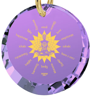"""Body and Mind"": Meditation Jewelry, Buddha Gifts, Purple Necklace, Nano Jewelry"