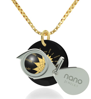 """Body and Mind"": Yoga Gifts for Women, Womens Christmas Ideas, Fine Gold Jewelry, Nano Jewelry"