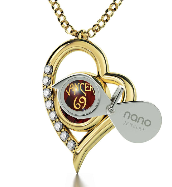 """Cancer Horoscope Sign With Imprint, Valentine Gifts for Kids, Children's Birthstone Jewelry, by Nano"""