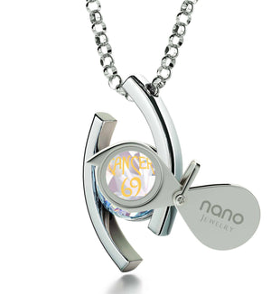 """Cancer Zodiac Necklaces With 24k Imprint, What to Get Your Girlfriend for Valentines Day, Christmas Gift for Best Friend Girl, by Nano Jewelry"""