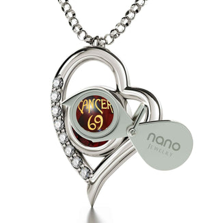 """Cancer Zodiac Sign, Girlfriend Birthday Ideas, Mothers Day Necklace With Birthstones, Ruby Jewelry"""