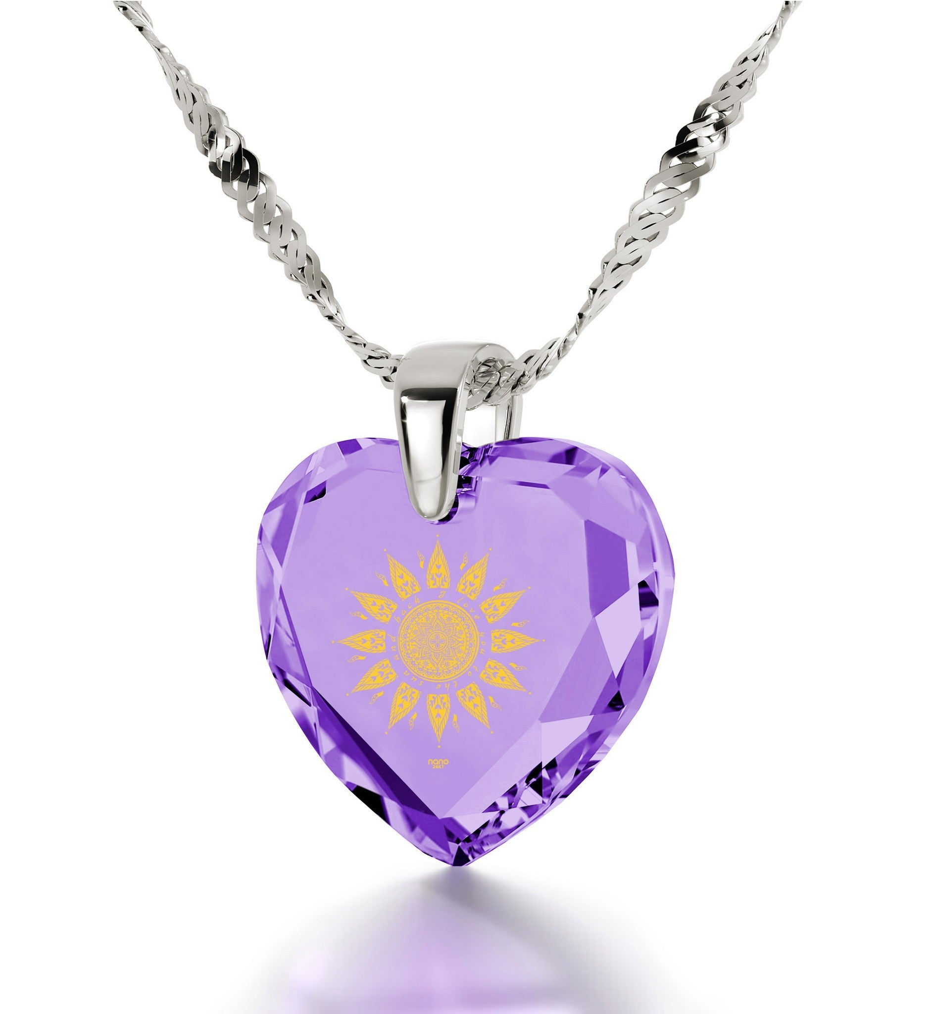 """Christmas Gifts for Girlfriend, Engraved Necklaces with ""I Love You to the Sun and Back"", Cubic Zirconia Jewelry"""