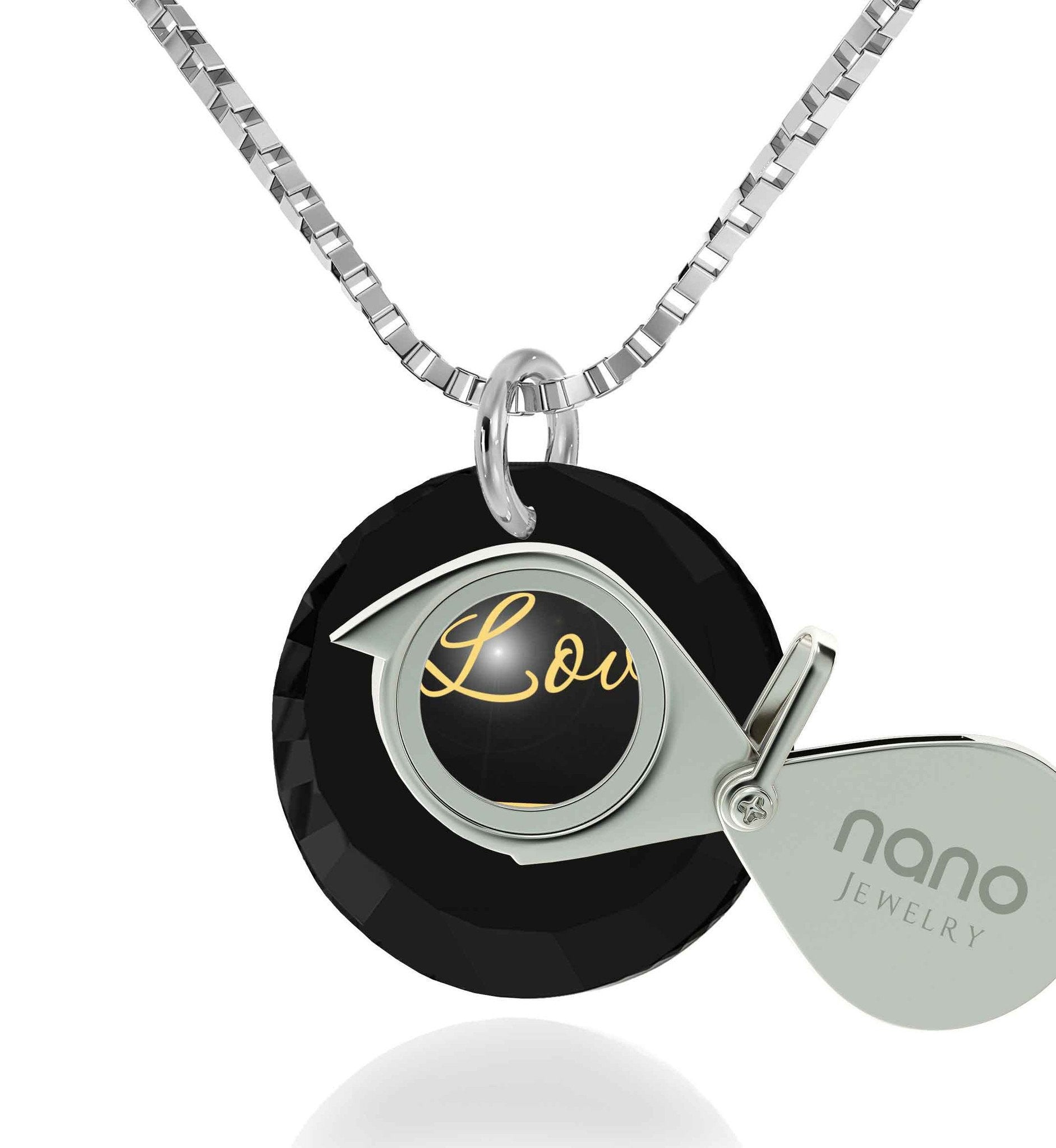 "Best Presents for Girlfriend,Sterling Silver,""I Love You Infinity"", Pure Romance Products, Nano Jewelry"