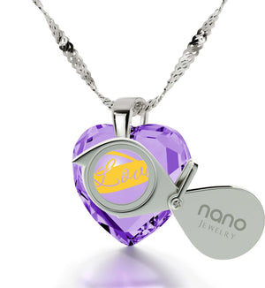 Christmas Ideas for Wife: Light Amethyst, 14k White Gold Necklace, Surprise Gifts for Girlfriend, by Nano Jewelry