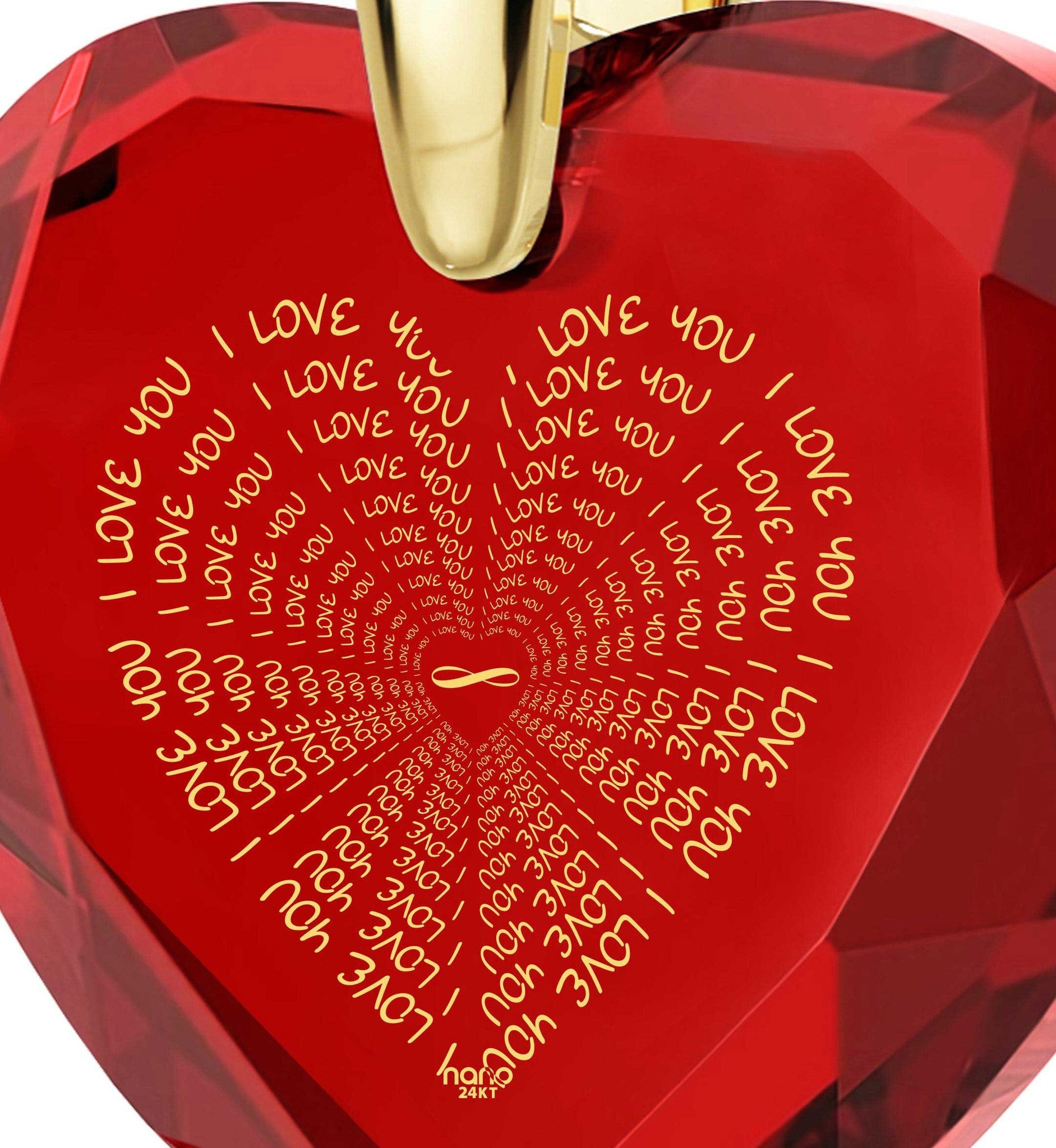 Christmas Present Ideas for Girlfriend, Best Jewelry Brands, CZ Red Heart, Valentine's Day Gifts for Wife by Nano