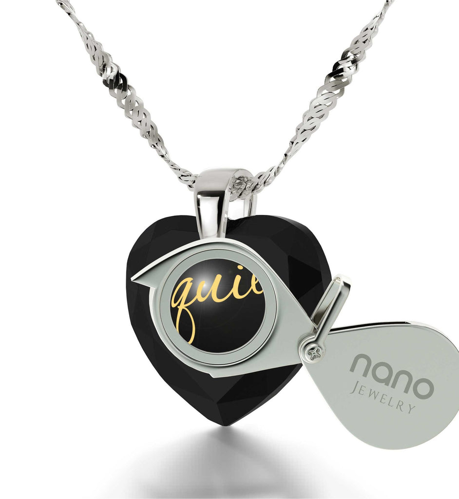 "Christmas Present Ideas for Girls,""TeQuiero"", CZ Jewelry, Heart Necklaces for Women, Nano"
