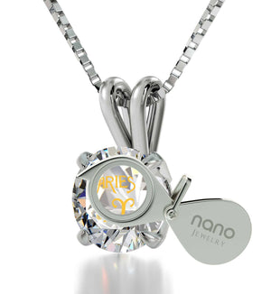 """TopGifts for Wife: AriesJewelry, Dainty14k White GoldNecklace, GirlfriendBirthdayIdeas by Nano"""