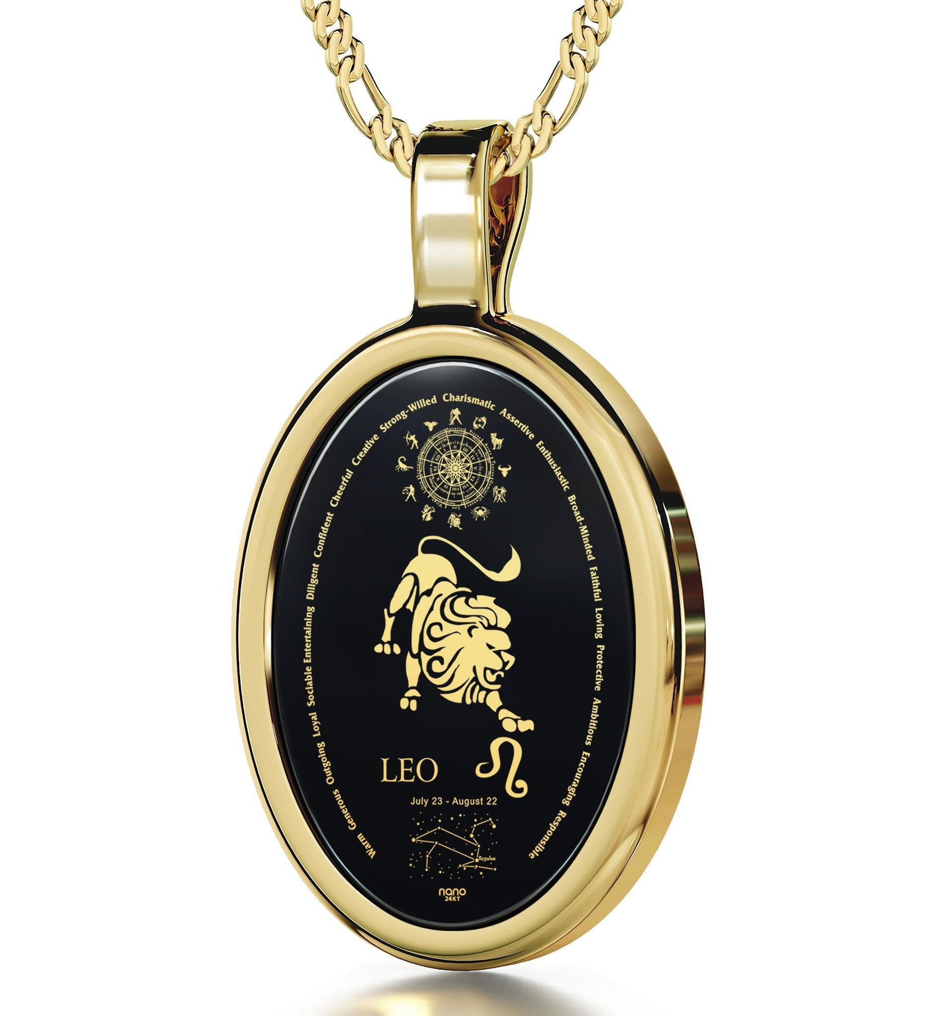 14k Gold Leo Necklace. Surprise Your Favorite Leo Today! Nano Jewelry 20757940ed