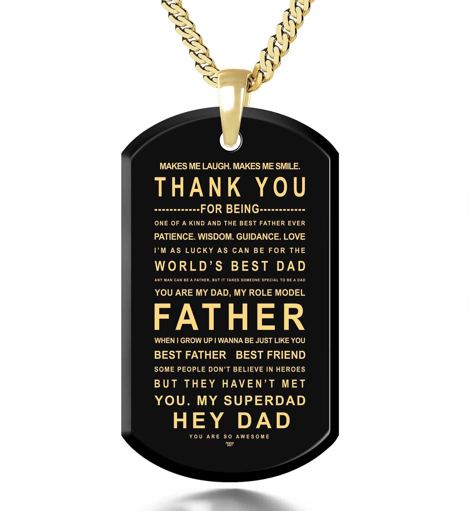 Christmas Presents for Dad, 14k Gold Filled Necklace, What to Get for Father's Day, by Nano Jewelry