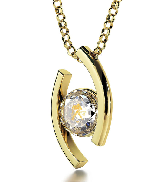 """Crystal CZ Stone Pendant on 14k Gold Chain, Top Womens Gifts, What to Get Girlfriend for Birthday, Nano Jewelry"""