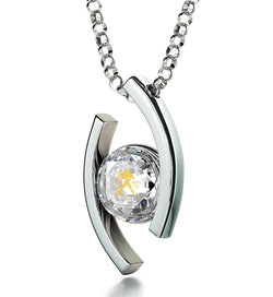 """Crystal CZ Stone Pendant on 14k White Gold Chain, Top Womens Gifts, What to Get Girlfriend for Birthday, Nano Jewelry"""