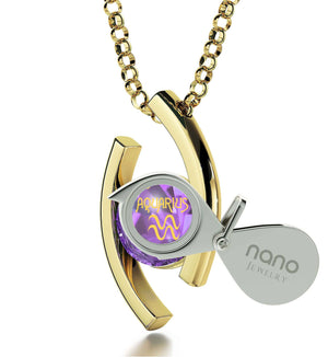 """Pure 14k Gold Birthstone Necklace, What to Buy My Wife for Christmas, Ladies Birthday Gifts, by Nano Jewelry"""