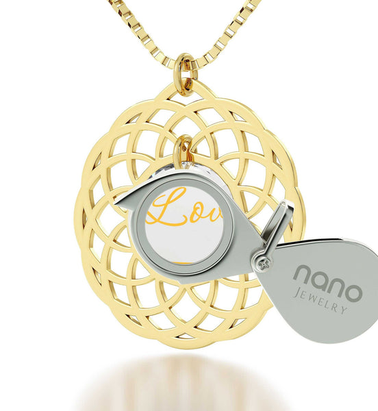 What to Buy My Girlfriend for Christmas, Gold Filled Mandala Necklace, Great Gifts for Wife, Nano Jewelry