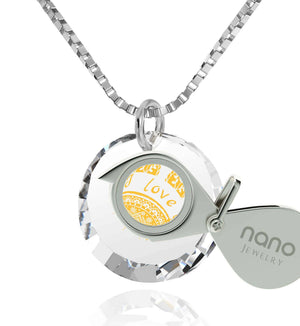 """Cute Necklaces for Her, CZ White Stone, 14k White Gold Pendants for Womens, Valentine Gifts for Girlfriend by Nano Jewelry"""