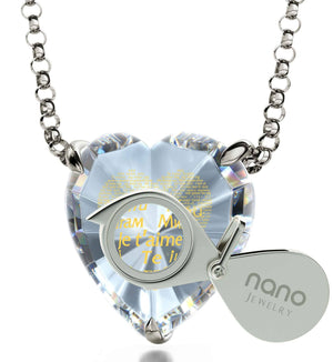 Valentines Ideas for Her, Love in Other Languages, Heart Necklaces for Women, What to Get Girlfriend for Christmas by Nano