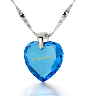 Cute Necklaces for Her, Love in Russian, Christmas Presents for Wife, Nano Jewelry