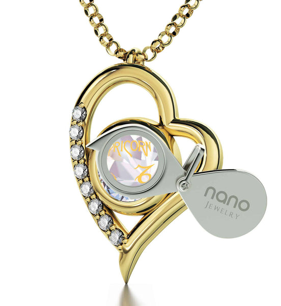 """Crystal Birthstone 14k Gold Jewelry, What to Get Wife for Christmas, Perfect Valentines Gift for Girlfriend, by Nano"""
