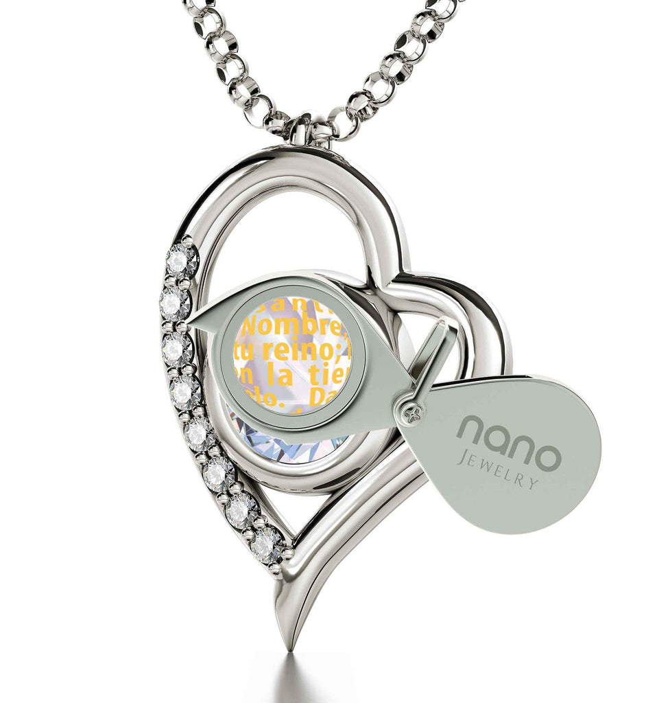 """Lord's Prayer Pendant, What to Get Girlfriend for Christmas, Top Gift Ideas for Women, Nano Jewelry"""