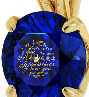 "Best Presents for Girlfriend, ""Te Quiero"", Blue Stone Jewellery, Valentines Ideas for Wife by Nano"