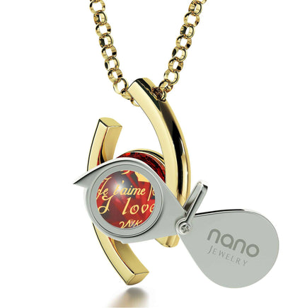 """Awesome Valentines Day Gifts for Her, ""TeQuiero"", Red Stone Jewelry, Best Christmas Present for Girlfriend by Nano"""