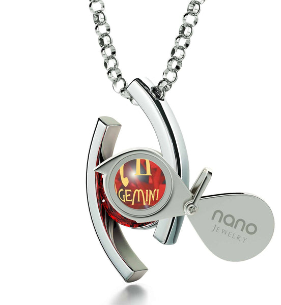 """Gemini Jewelry With 24k Imprint, Cute Christmas Gifts for Your Girlfriend Valentines Surprises for Her, by Nano"""