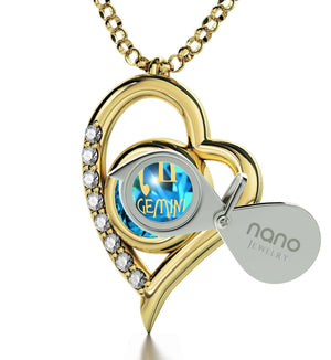 """Gemini Necklace With Zodiac Imprint, Valentines Presents for Her, Great Gifts for Girlfriend, by Nano Jewelry"""
