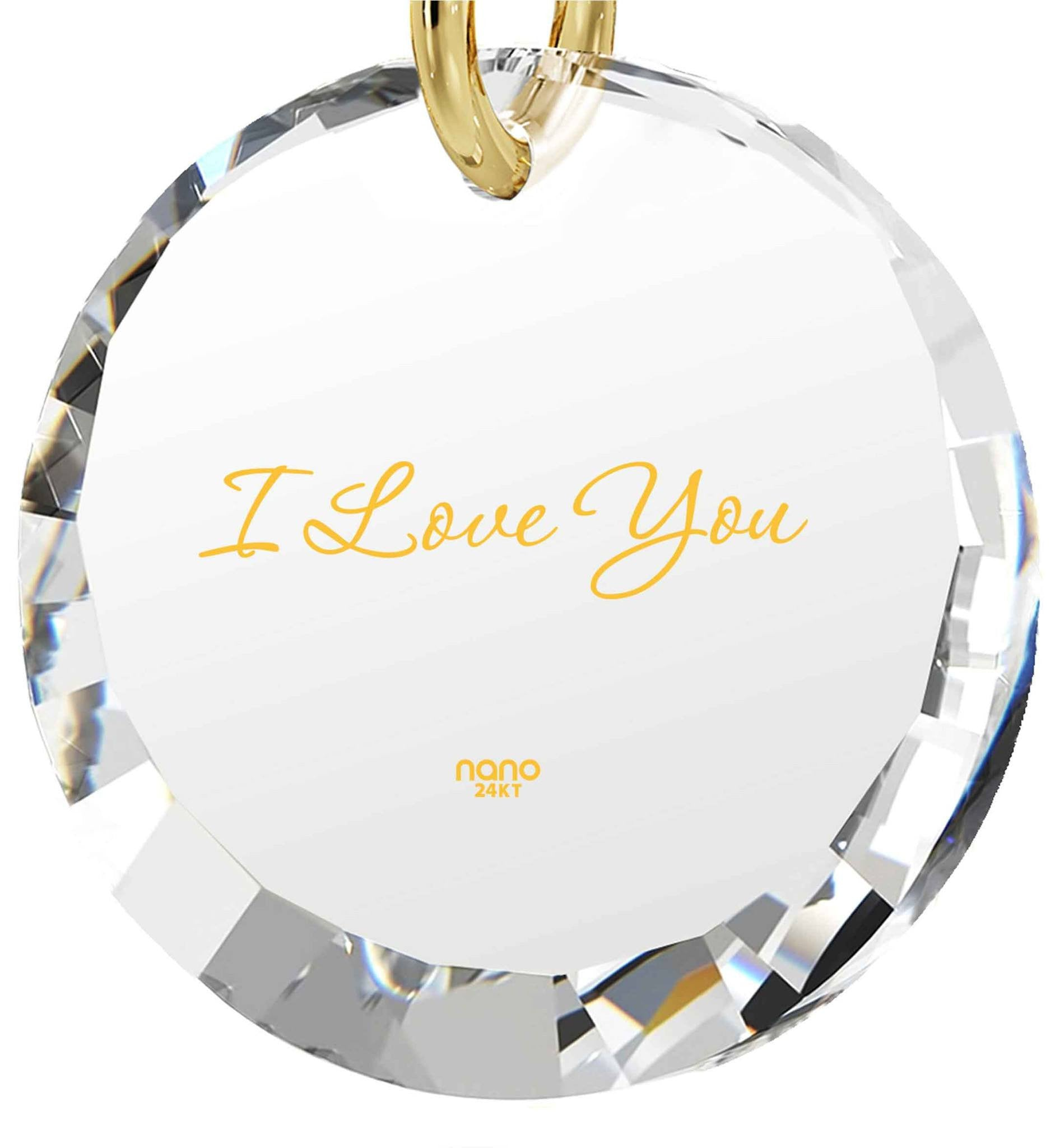 Girlfriend Birthday Ideas, 24k Engraved Pendant, CZ Jewelry, Fun Gifts for Women, Nano