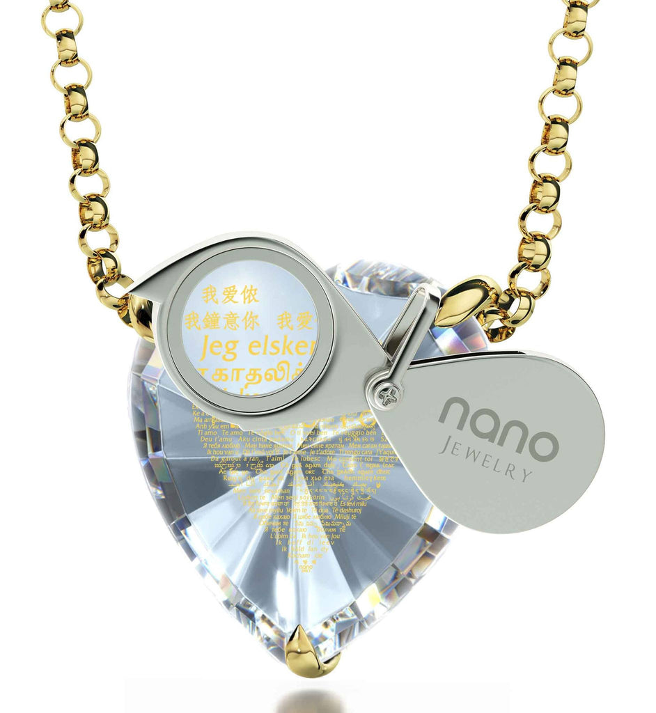 "Cute Valentines Gifts for Her: ""I Love You"" in All Languages - Nano Jewelry"