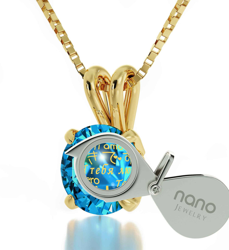 "What to Get Girlfriend for Birthday, ""Te Quiero"", Gold Chain with Pendant, Valentine Gift for Wife by Nano Jewelry"