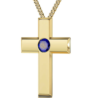 """Gold Filled Cross Jewelry with Our Father Prayer, Women's Gifts for Christmas,Cute Necklaces for Her"""
