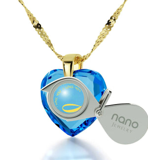 "Good Anniversary Gifts for Her, 14k Gold Pendants for Women,""I Love You"" Necklace, Wife Birthday Present by Nano Jewelry"