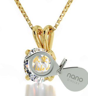 "Xmas Ideas for Wife, ""Te Amo"", Crystal Stone Jewerly, Best Valentine Gift for Girlfriend by Nano"