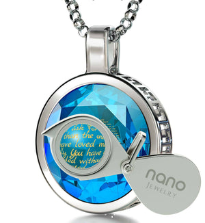 Best Christmas Present For Mom, 14k White Gold Meaningful Necklaces, Mother Daughter Jewelry