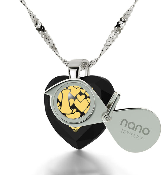 """What to Get Girlfriend for Birthday, 24k Imprint,Sterling Silver, Love Gifts for Wife, Nano Jewelry"""