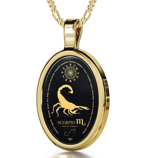 Good Christmas Presents for Girlfriend: Horoscope Necklace, Zodiac Signs Personality, Romantic Valentines Gifts for Her by Nano Jewelry