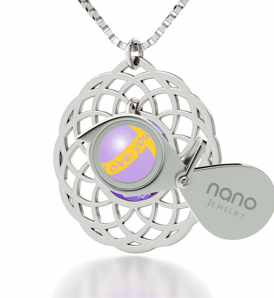 "Good Christmas Presents for Girlfriend: ""Love You Always"" Dainty Silver Necklace, Gift Ideas for Young Women by Nano"