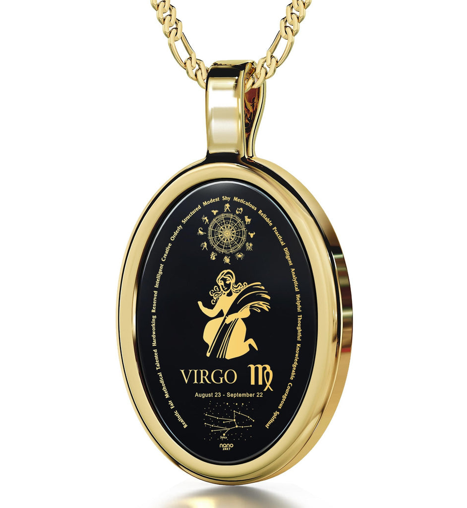 Good Christmas Presents for Girlfriend: Virgo Jewelry, Horoscope Necklace, Valentines Ideas for Her