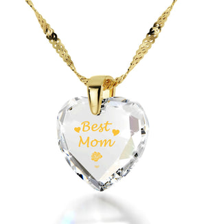 "Presents for Mom Christmas, ""Best Mom"" Gold Plated Necklaces, Special Mother's Day Gifts"