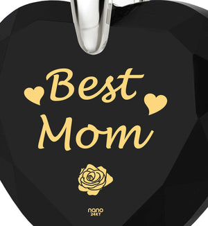 "Good Christmas Presents for Mom, ""Best Mom"" Jewelry Pendant, MotherBirthday Gift Ideas, by Nano"