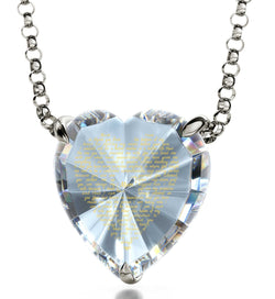 Good Christmas Presents for Mom: Meaningful Necklaces, CZ White Heart, Special Mother's Day Gifts by Nano Jewelry