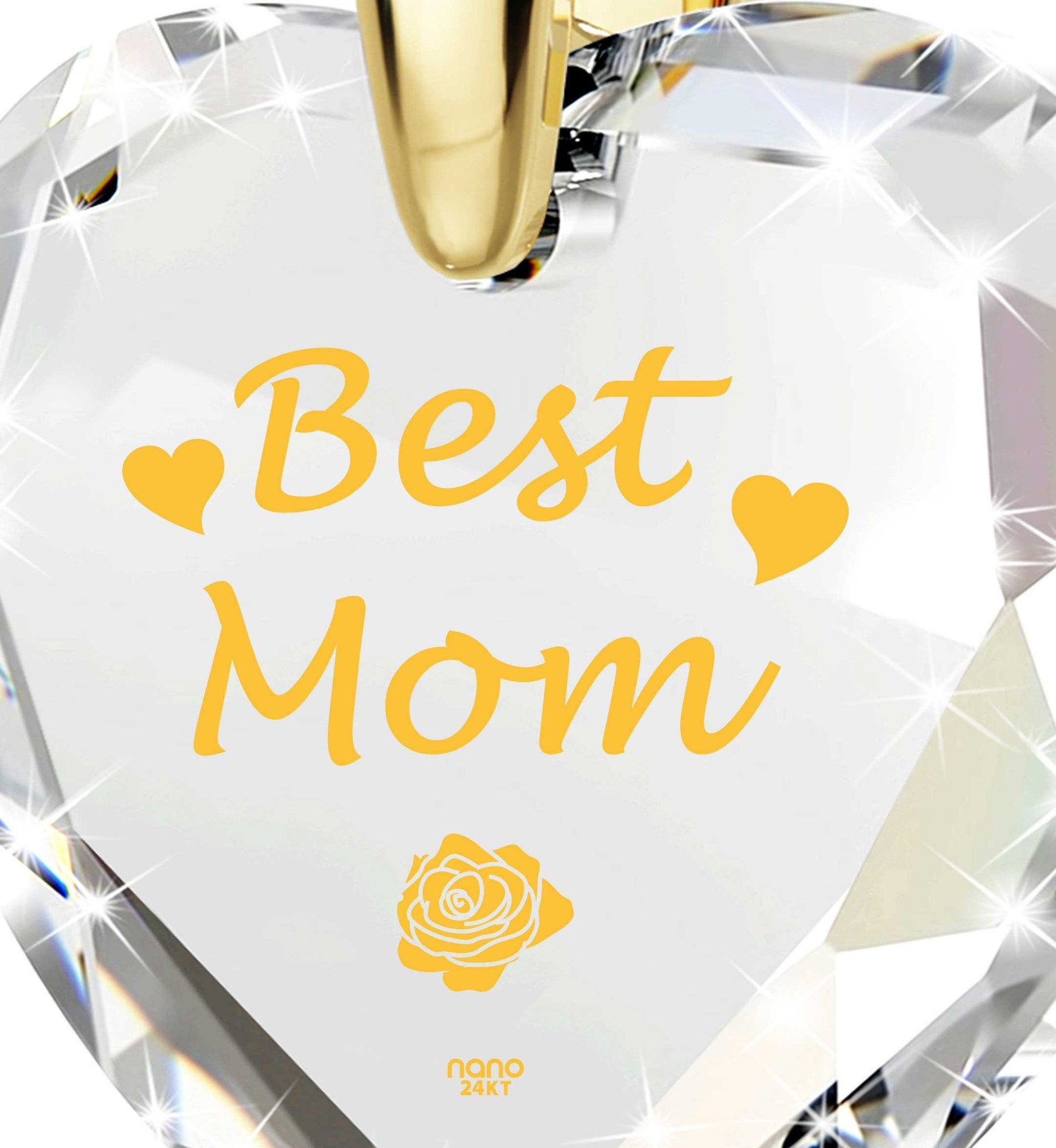 Good Christmas Presents for Mom, Gold Filled Pendant, Mother Daughter Necklace, by Nano Jewelry