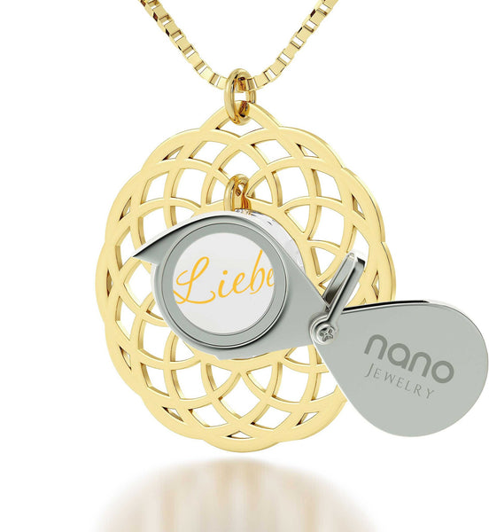 Good Gifts for Girlfriend, Love in Different Languages, Womens Birthday Presents, Nano Jewelry