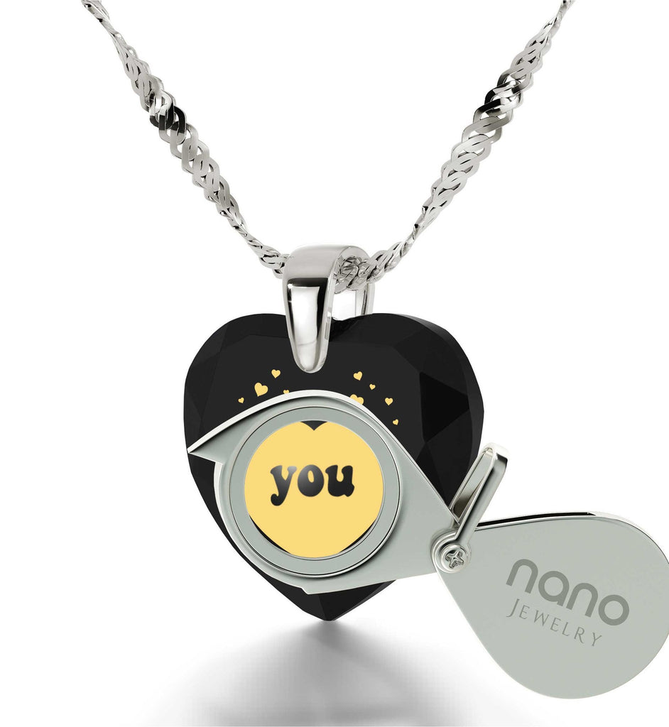 Good Gifts for Girlfriend, The Love Necklace, CZ Jewelry, Valentines Ideas for Her, Nano