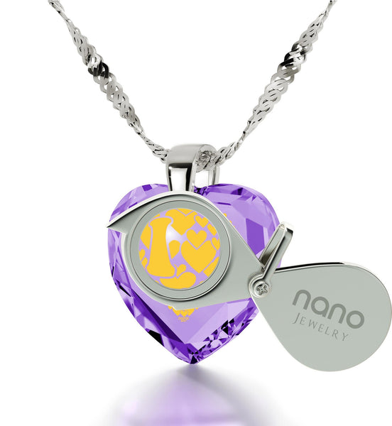 """Good Presents for Girlfriend,""I Love You More"", 24k Engraved, Gift for Wife Anniversary, Nano Jewelry"""