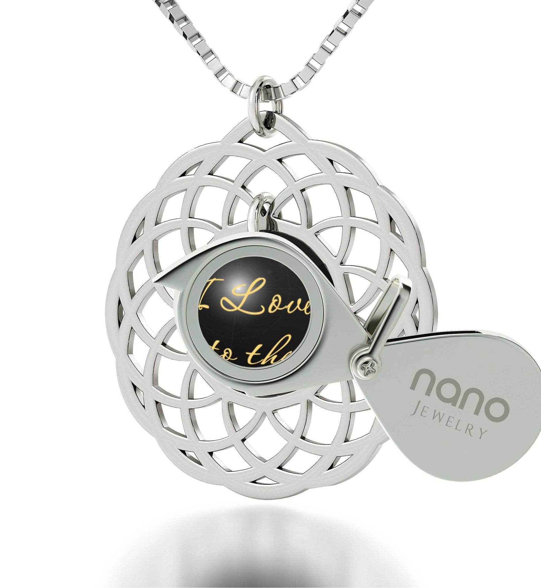 Valentine's Day Gift Ideas for Girlfriend,Sterling SilverMandala, 24k Imprint, Pure Romance Products, Nano Jewelry