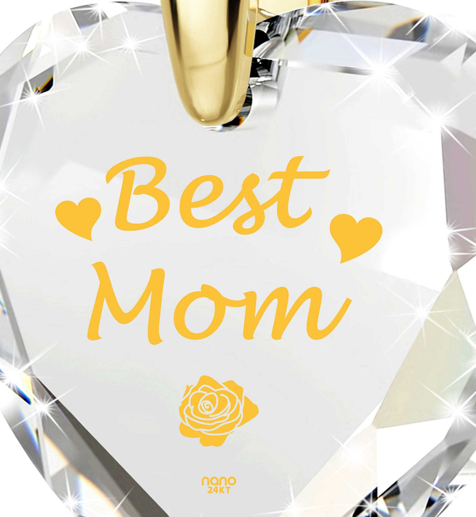 "Good Presents for Mom, ""Best Mom"" Gold Plated Necklaces, Special Mother's Day Gifts"
