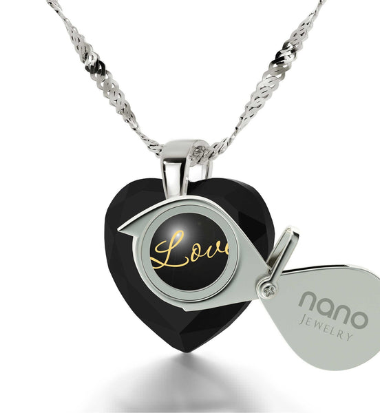 Good Valentine Gifts for Girlfriend, Fine Silver Engraved Necklace, Birthday Present for Best Friend, by Nano Jewelry