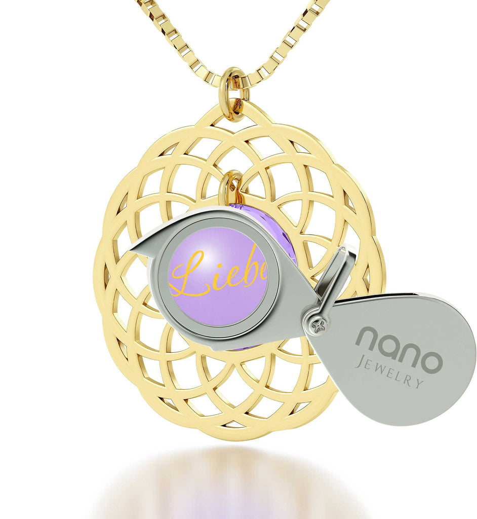 Good Valentine Gifts for Girlfriend, Love in Other Languages, Girl Birthday Presents, Nano Jewelry