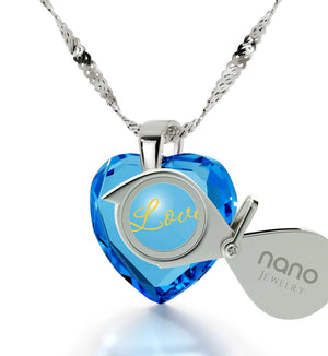 MgGood Valentine Gifts for Girlfriend, Meaningful Blue Heart Stone Jewelry, Christmas Present Ideas for Girls
